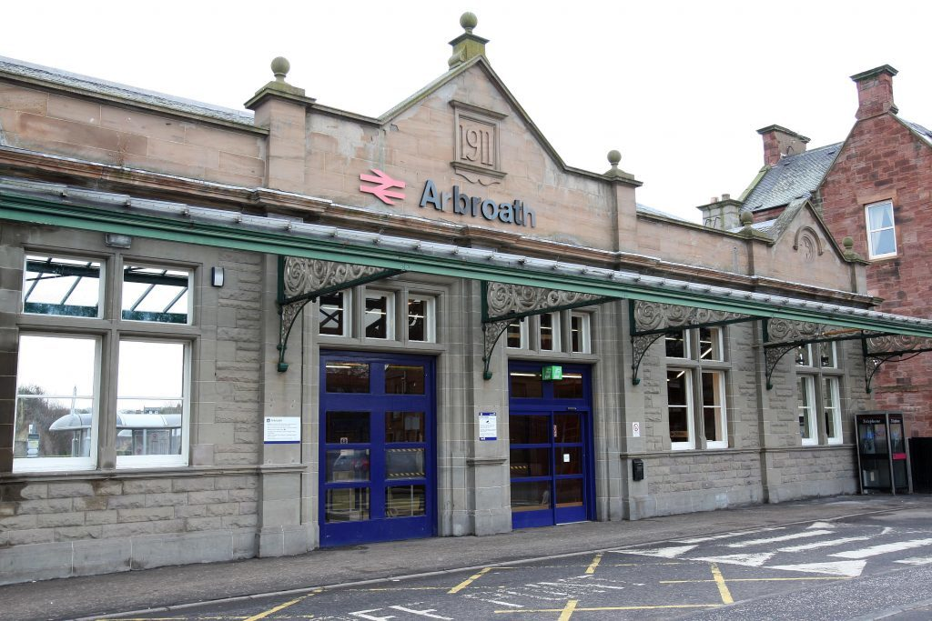 Arbroath railway station.