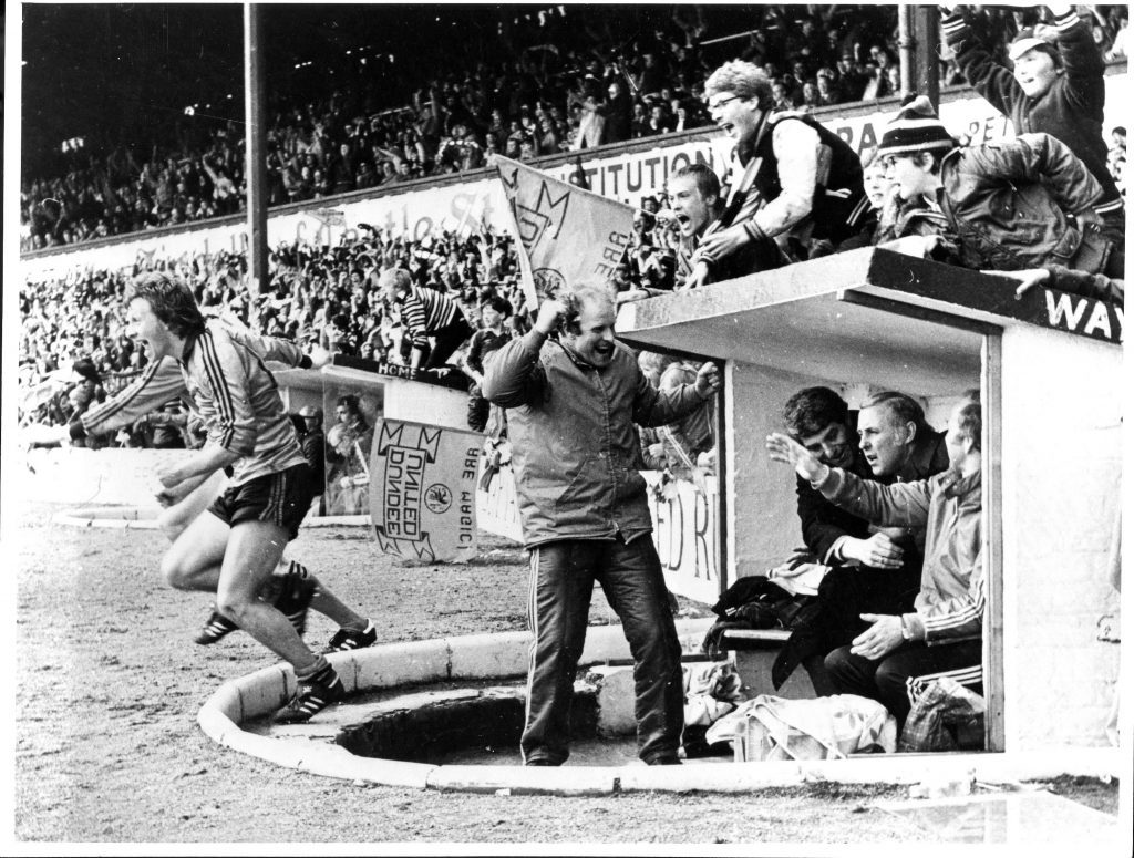 Fly the flag - United won the league at Dens in 1983