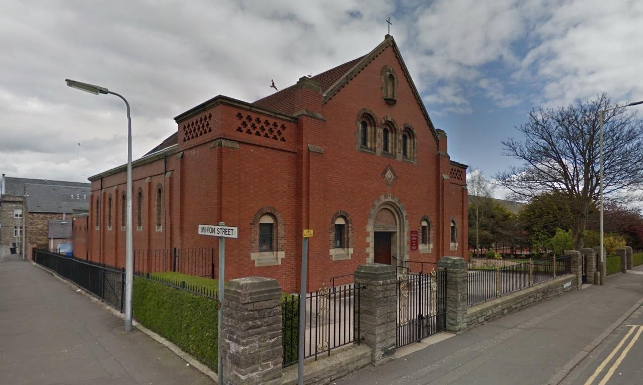 The church on Byron Street.