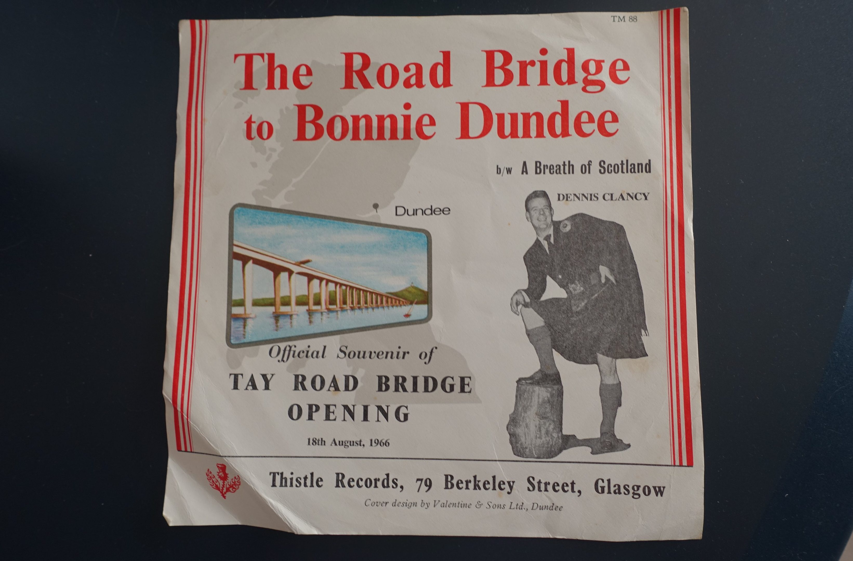 The Road Bridge to Bonnie Dundee was written to commemorate the opening of the Tay Road Bridge on August 18, 1966