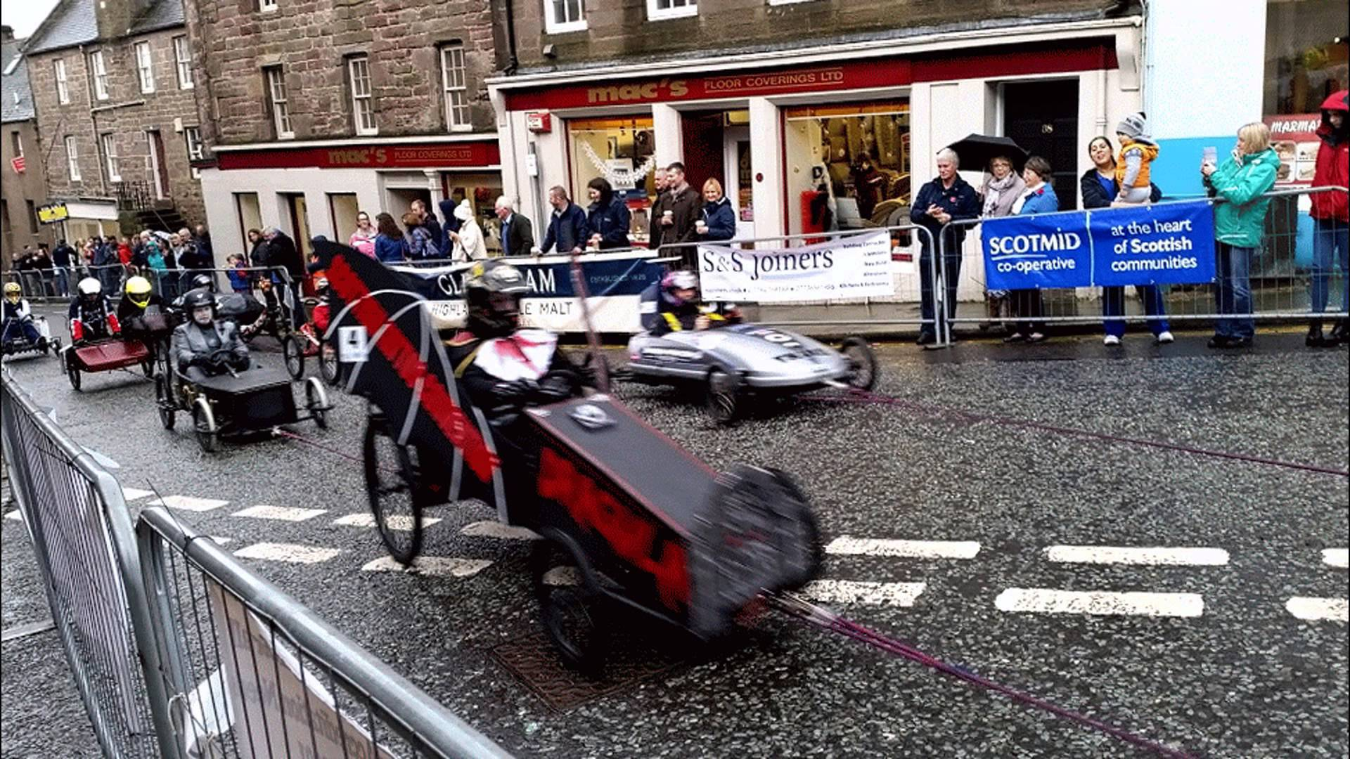 A previous cartie racing event organised by Bravo Brechin.