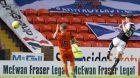 27/08/16 LADBROKES PREMIERSHIP    DUNDEE UTD v RAITH ROVERS    TANNADICE - DUNDEE    Raith's Jordan Thompson pulls a goal back against Dundee United