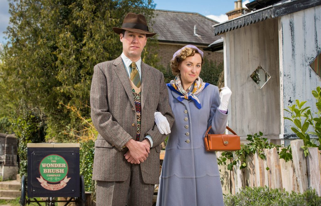 Young Hyacinth -Picture Shows: William (JAMES WRIGHTON), Hyacinth (KERRY HOWARD)