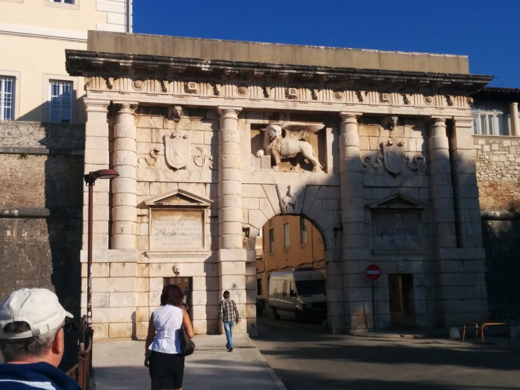 Entrance to the ancient Adriatic port city of Zadar