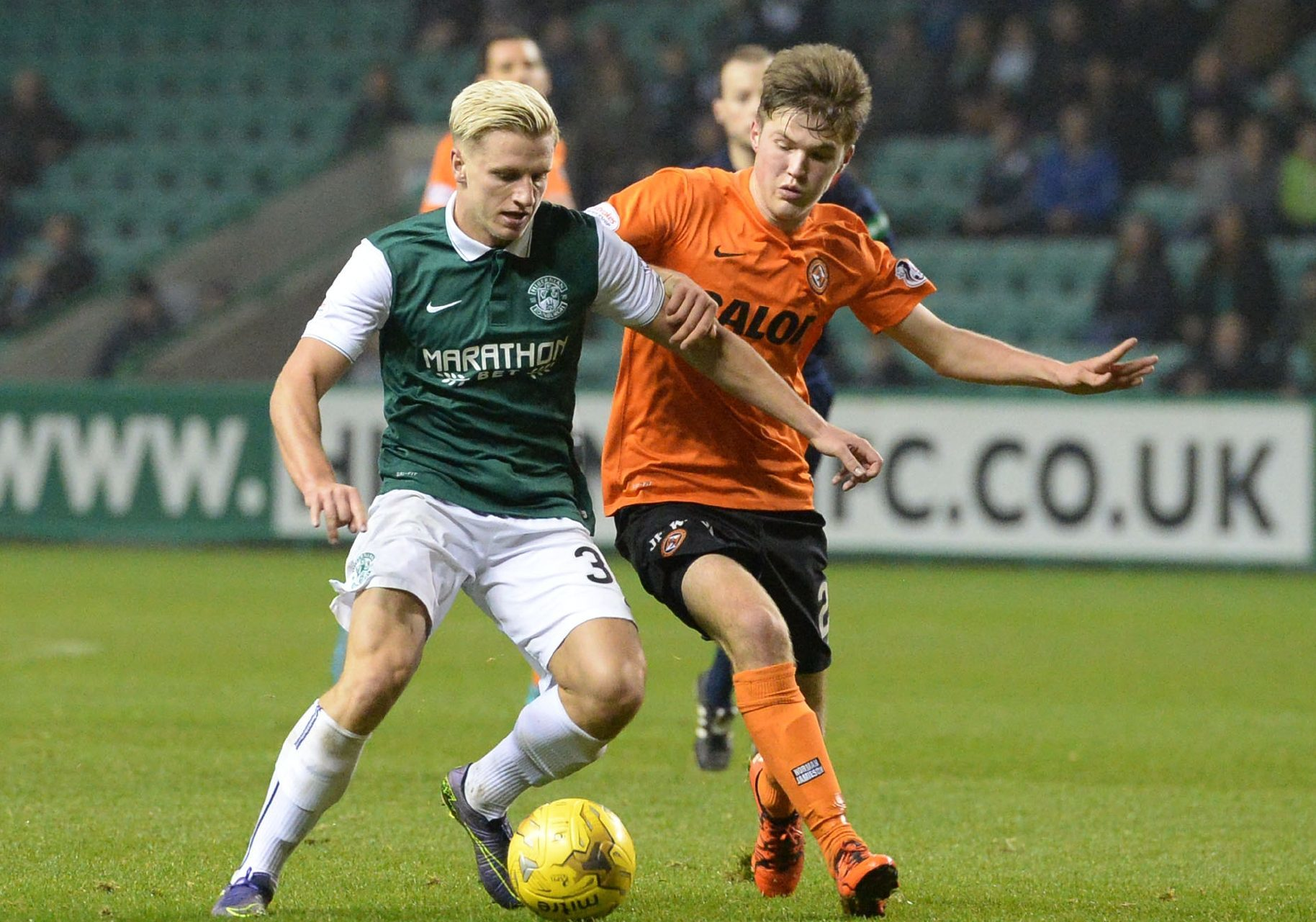Past action from Dundee United versus Hibs.