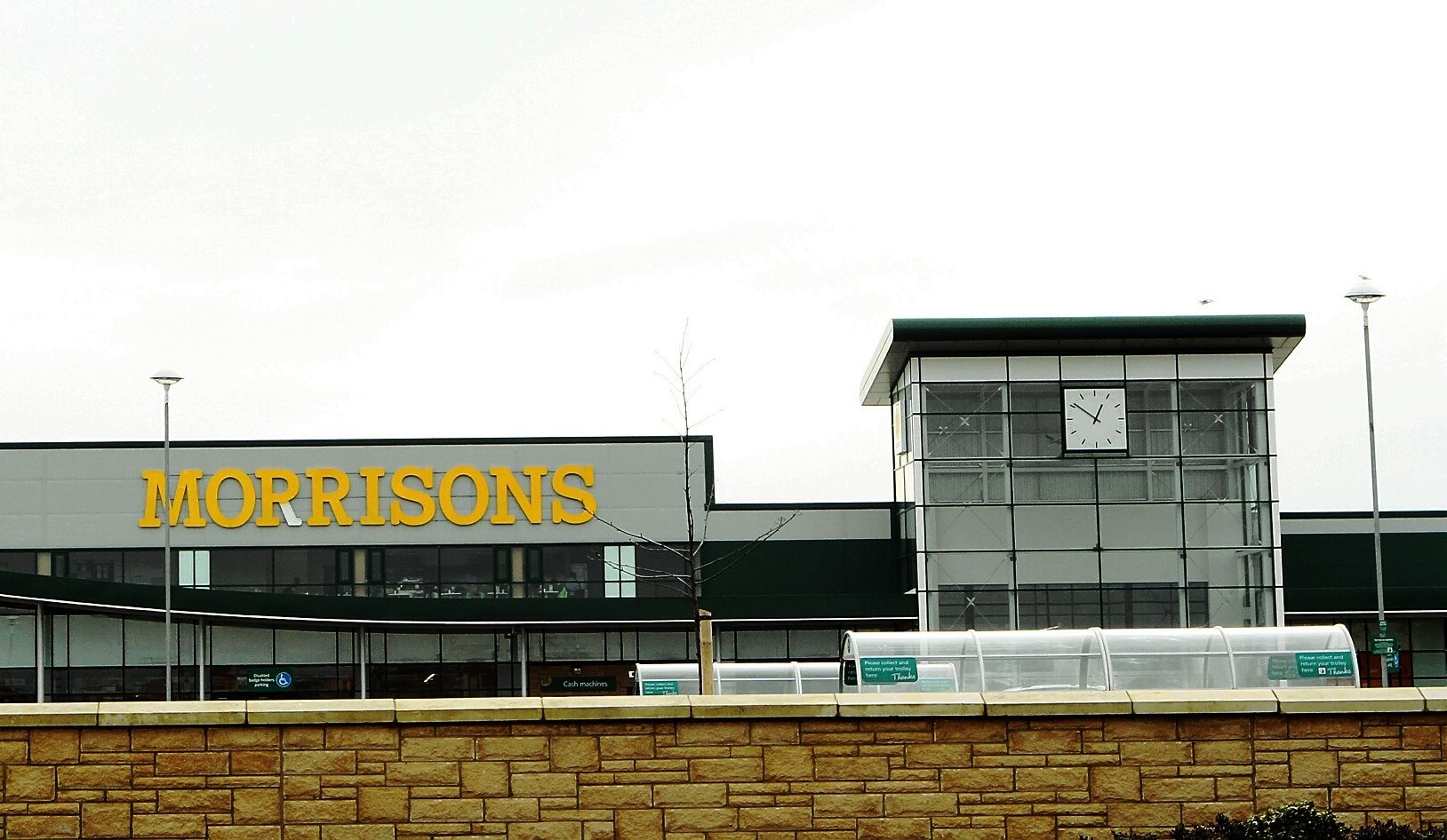 The drink driver was spotted at Morrisons in Kirkcaldy.