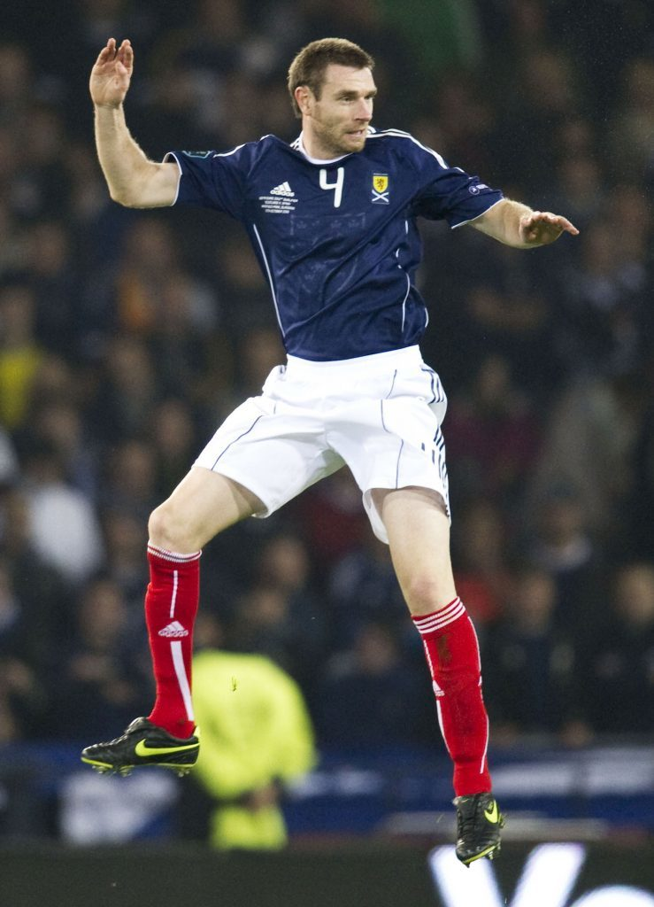 Stephen McManus in action for Scotland in 2010.