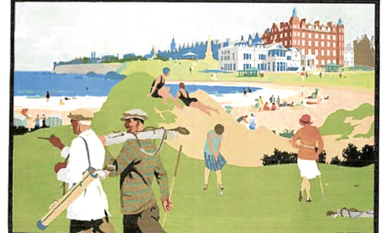 A railway poster depicting St Andrews