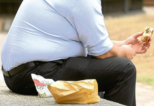 Almost a third of Scottish adults are obese.