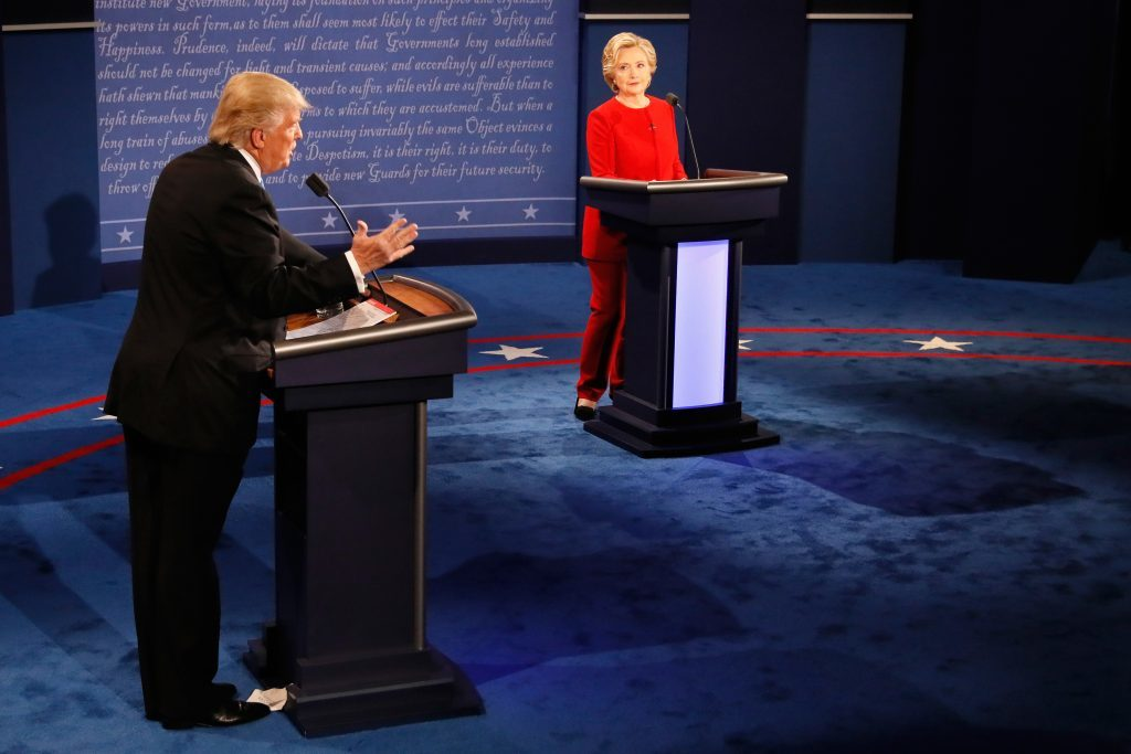 Hillary Clinton And Donald Trump Face Off In First Presidential Debate At Hofstra University