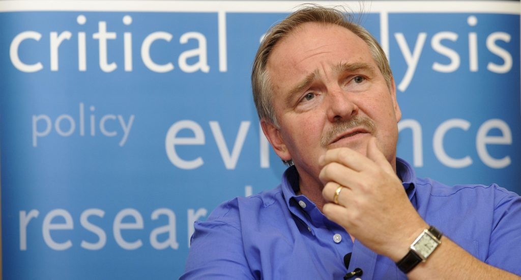 Professor David Nutt speaks at Kings College London, in 2009 amid the fall-out from his sacking as the Government's chief drugs adviser after his controversial remarks about cannabis, ecstasy and LSD.