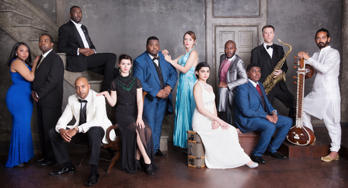 The cast of Stand By Me - The Story of Ben E King and The Drifters