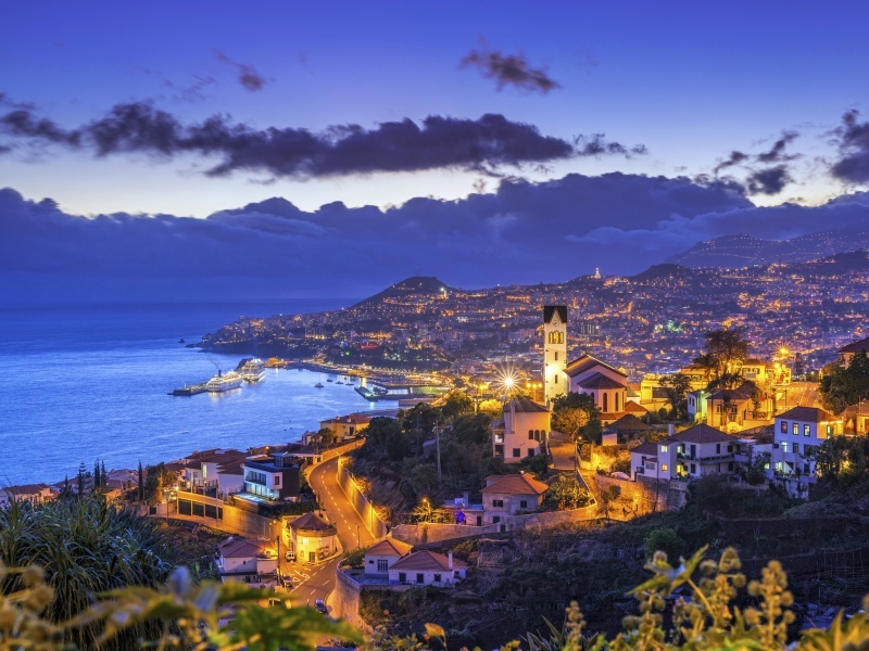 Funchal at night.