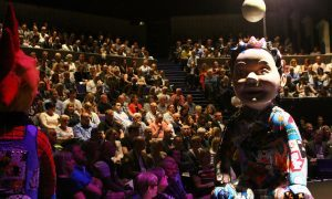 The Oor Wullie Bucket Trail auction under way at the Dundee Rep in September 2016.