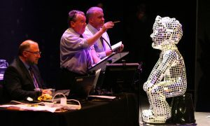 Disco Oor Wullie goes under the hammer at the auction.