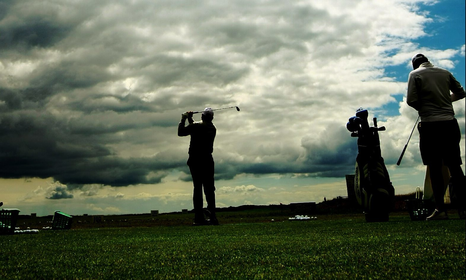 Golf at Carnoustie links.