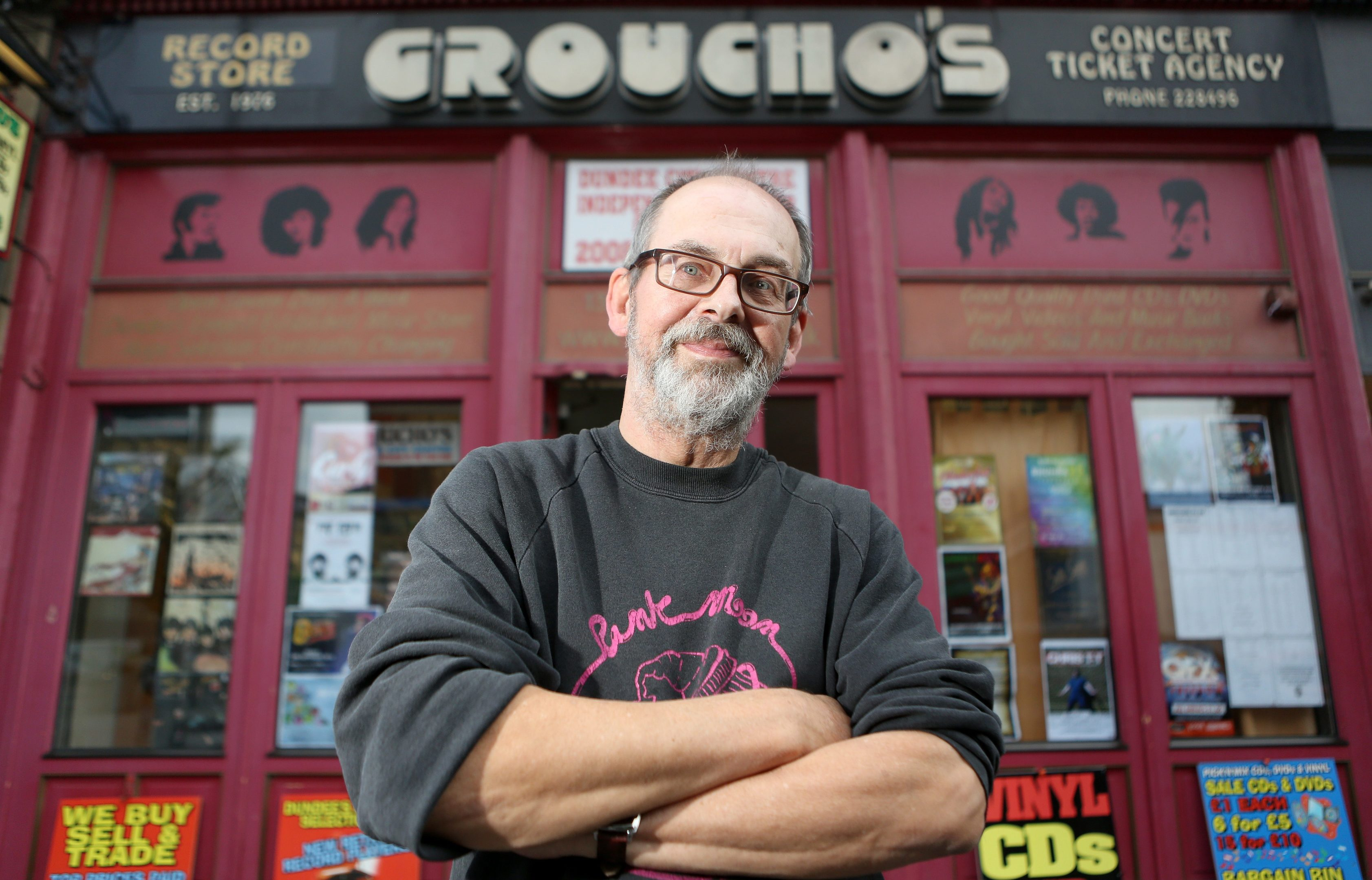 Alastair 'Breeks' Brodie outside Groucho's.