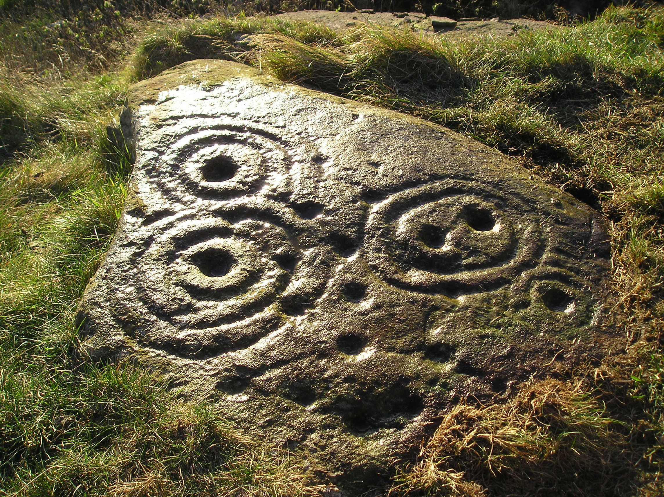 A piece of rock art discovered by George on Gallow Hill, just north of Dundee.
