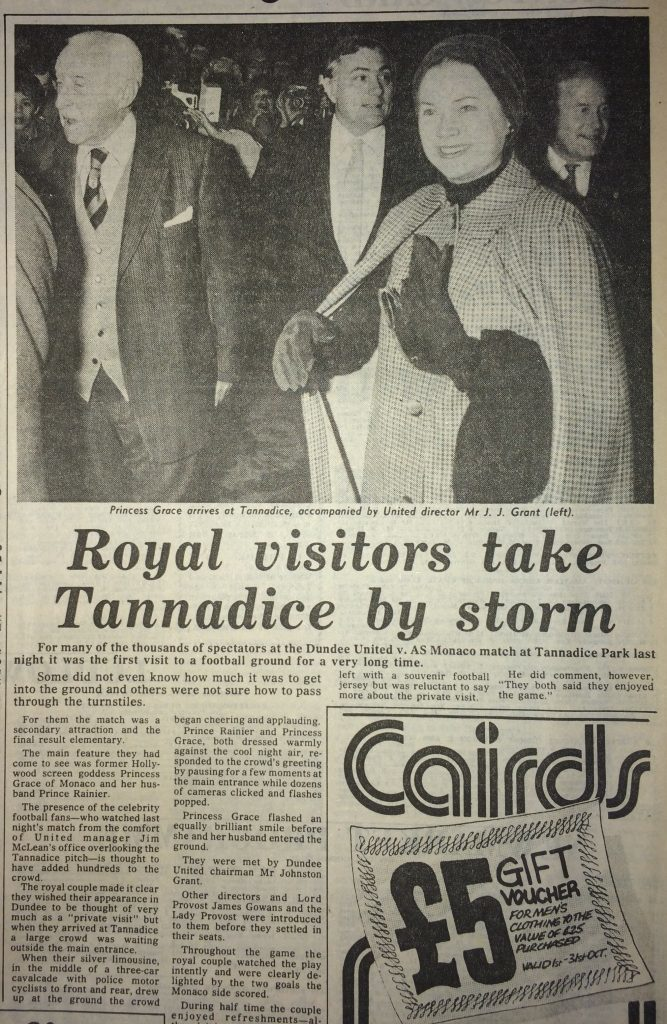 How The Courier reported the visit.
