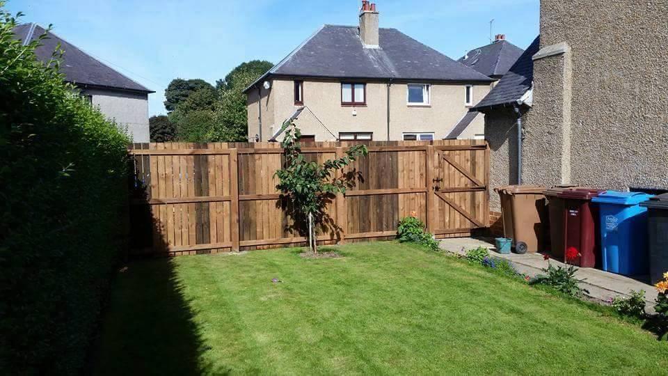 Rosco's new fence.