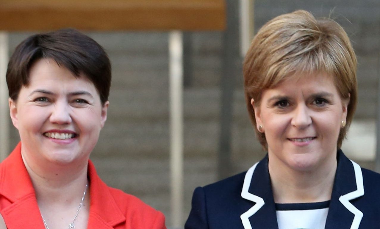Ruth Davidson will say the First Minister does not speak for Scotland
