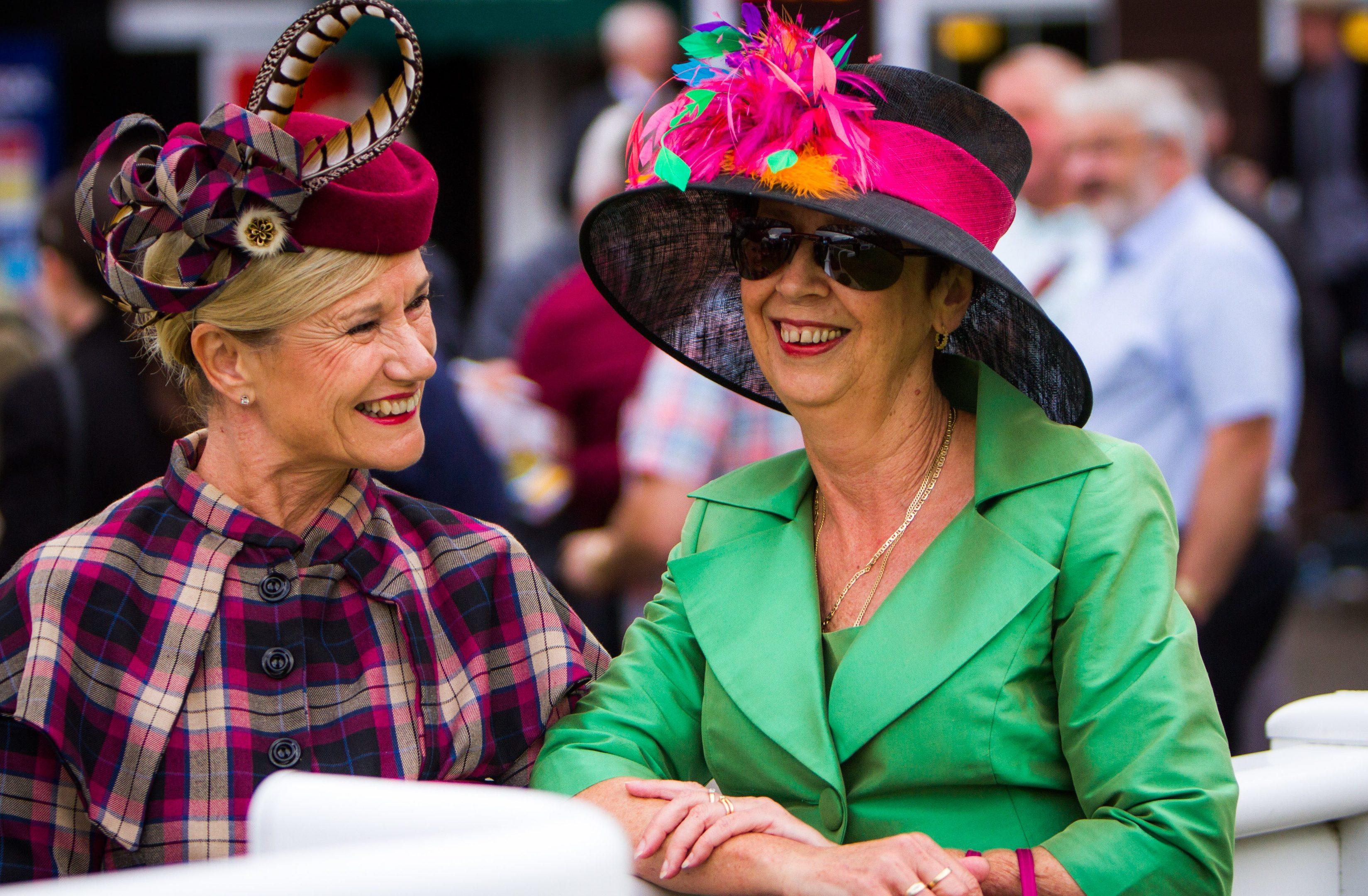 Judith Beckett (left) and Karen Carlisle, both from Derbyshire; Karen won 'Most Colourful'.