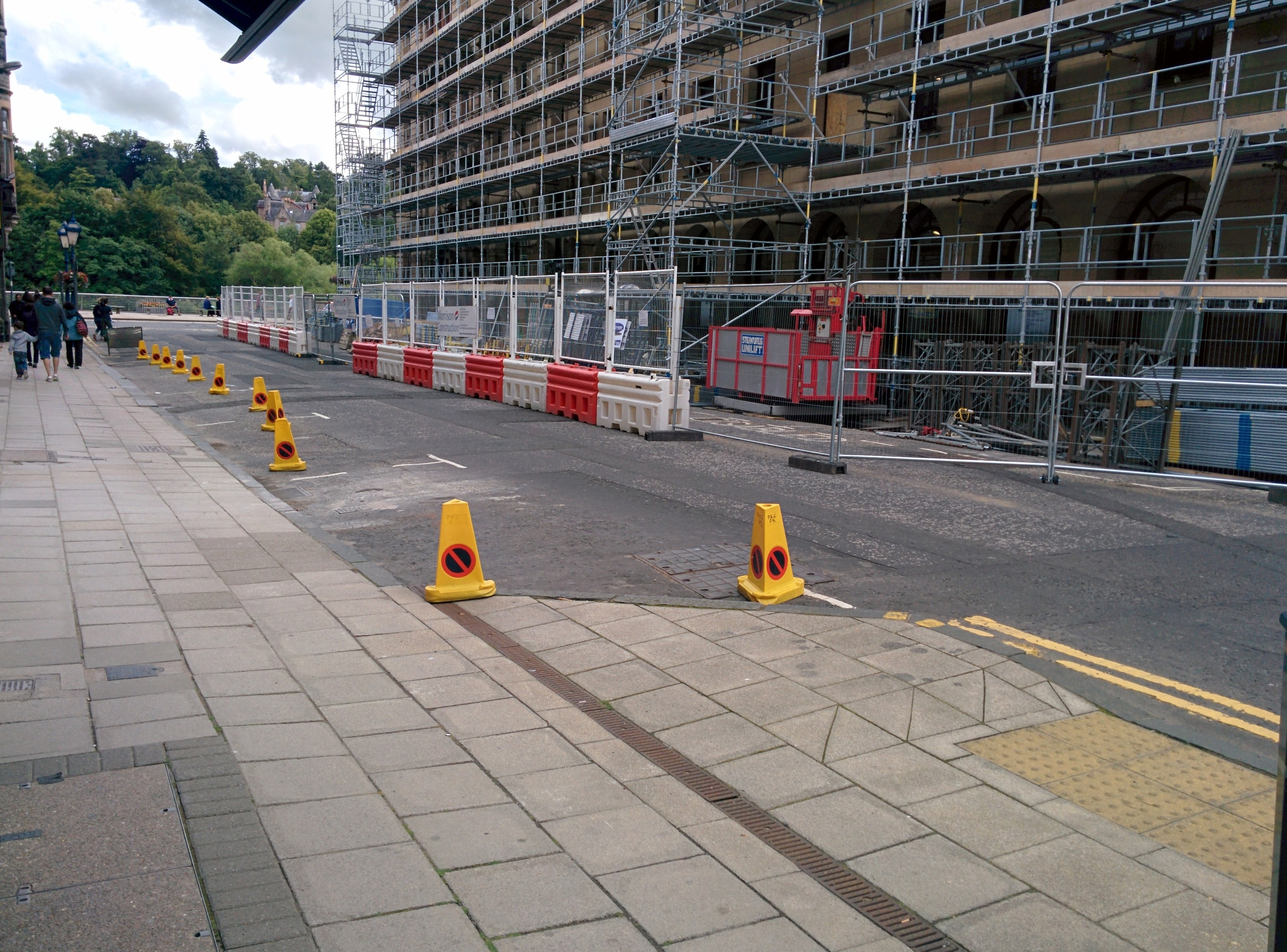 Work is ongoing at the headquarters of Perth and Kinross Council.