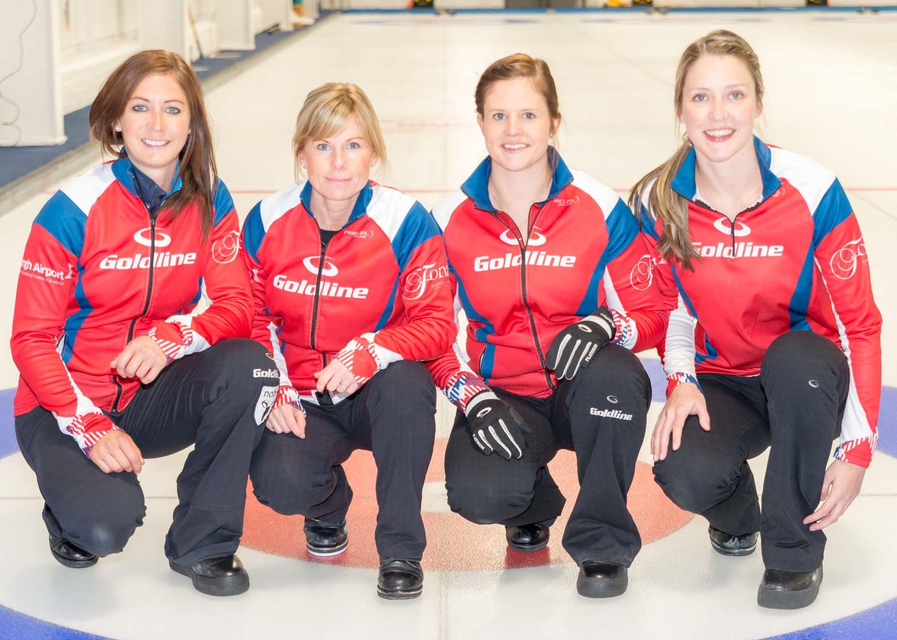 Team Muirhead for this weekend's Euro qualifiers  - Eve Muirhead, Kelly Schafer, Vicki Adams and Lauren Gray.