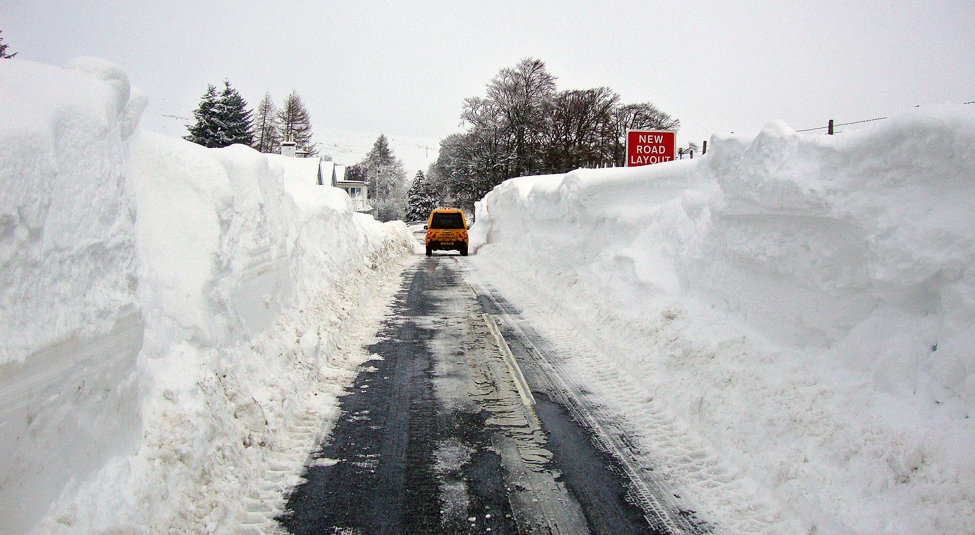 Snow clearing on the A822 in Perthshire during a previous hard winter.