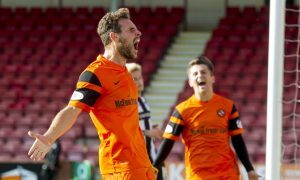 10/09/16 LADBROKES CHAMPIONSHIP     DUNFERMLINE v DUNDEE UNITED     EAST END PARK - DUNFERMLINE     Dundee United's Tony Andreu celebrates having scored his side's third of the match