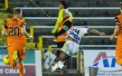 20/09/16 BETFRED CUP QUARTER FINAL     GREENOCK MORTON v DUNDEE UNITED     CAPPIELOW - GREENOCK     Greenock Morton's Jai Quitongo opens the scoring