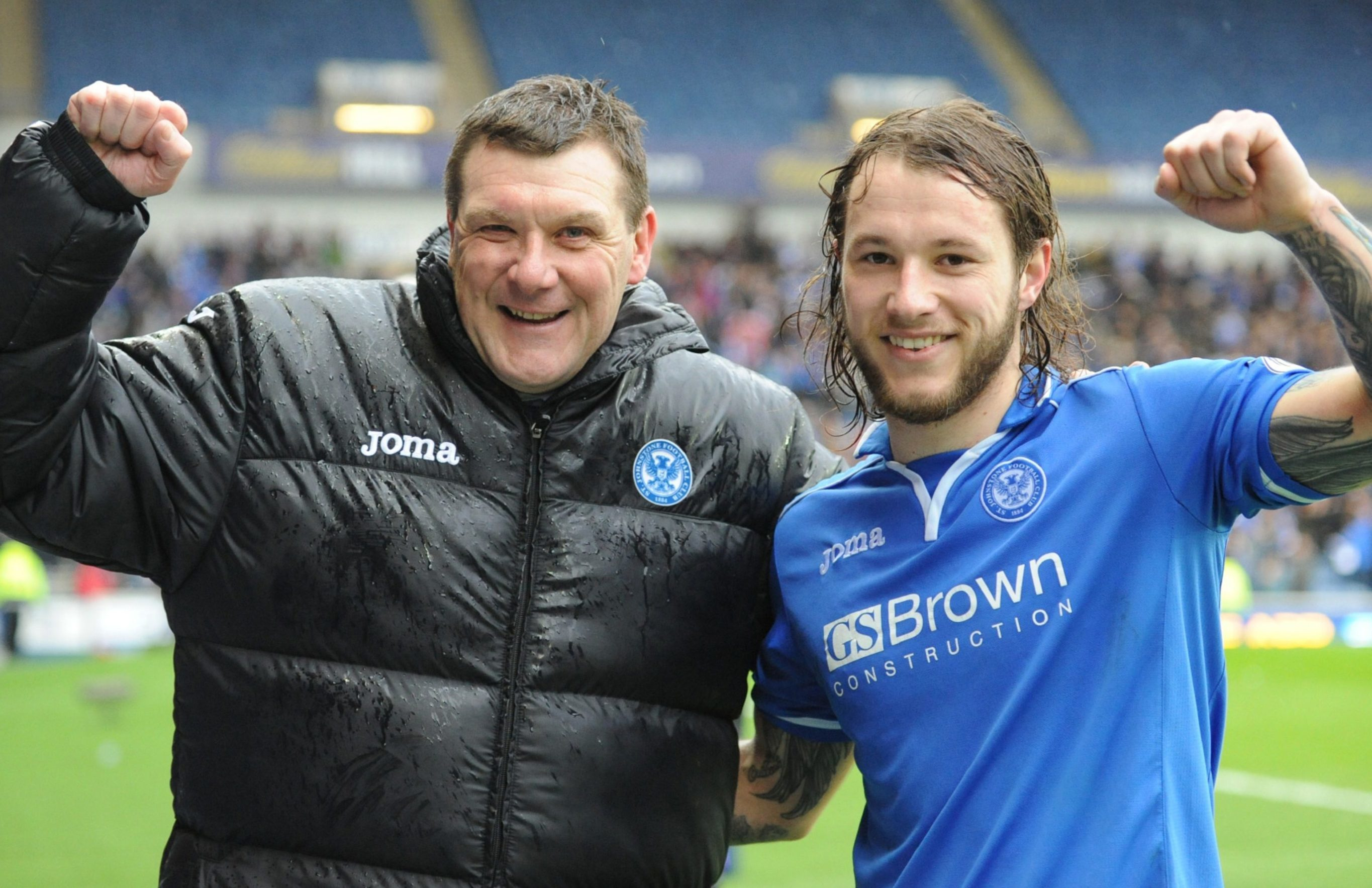 Tommy Wright with Stevie May.