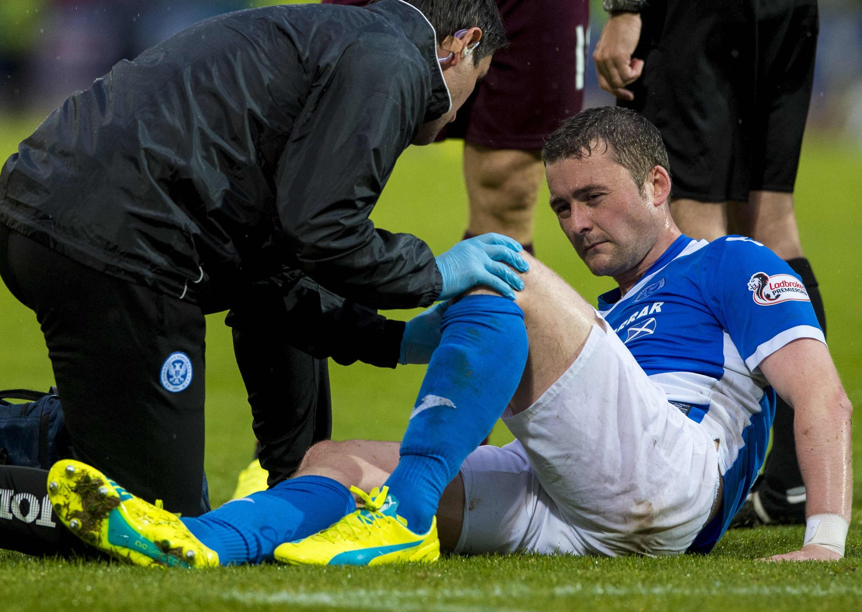 Tam Scobbie was injured against Hearts back in August.