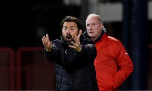 Paul Hartley tries to get his players going against Partick Thistle.