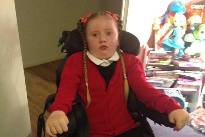 Cally in her school uniform.