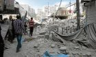 The destruction in war-torn Aleppo, Syria  a situation Britain seems to be powerless to influence.