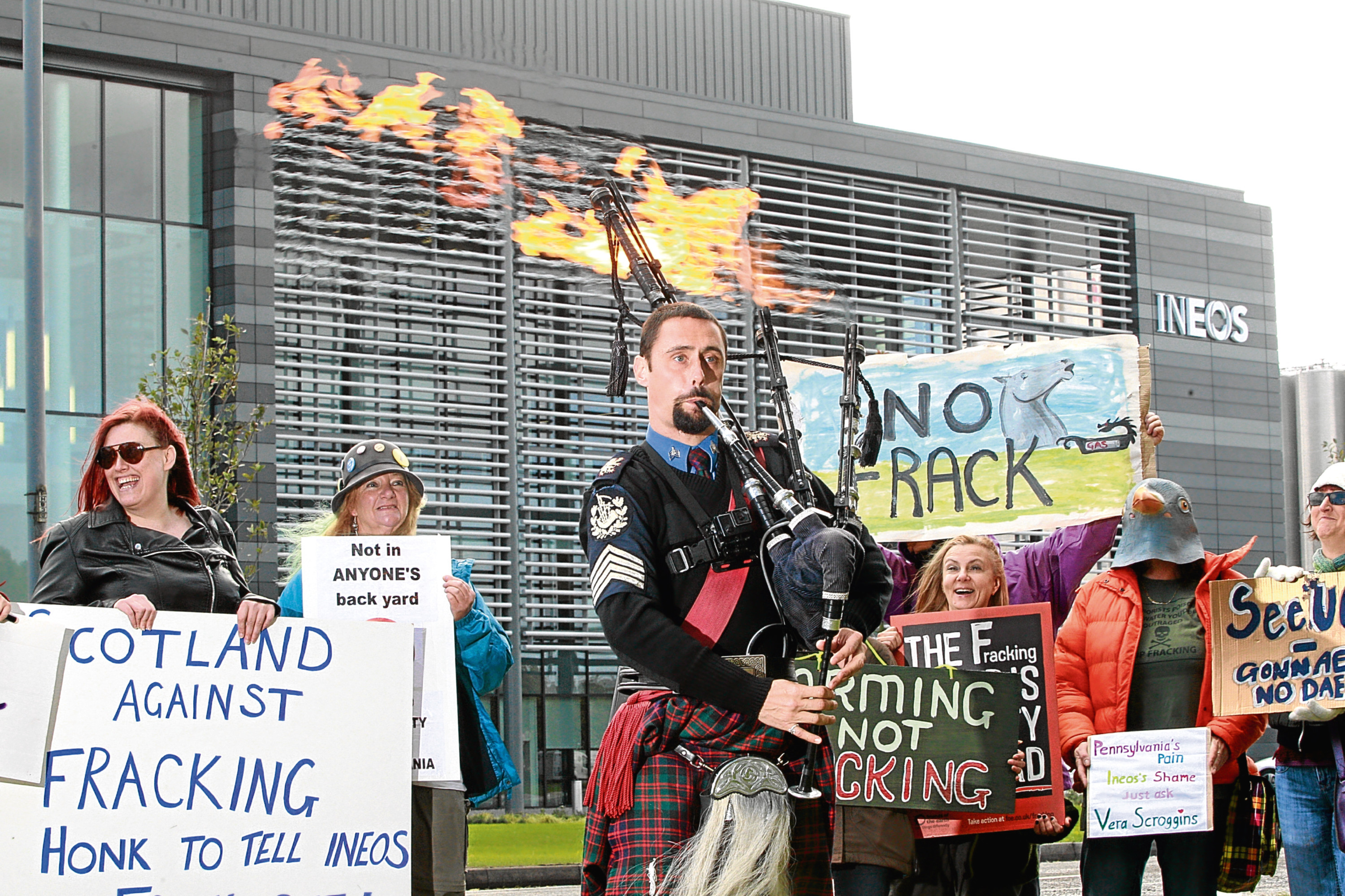 The Scottish Government has imposed a moratorium on fracking, amid protests over the process.