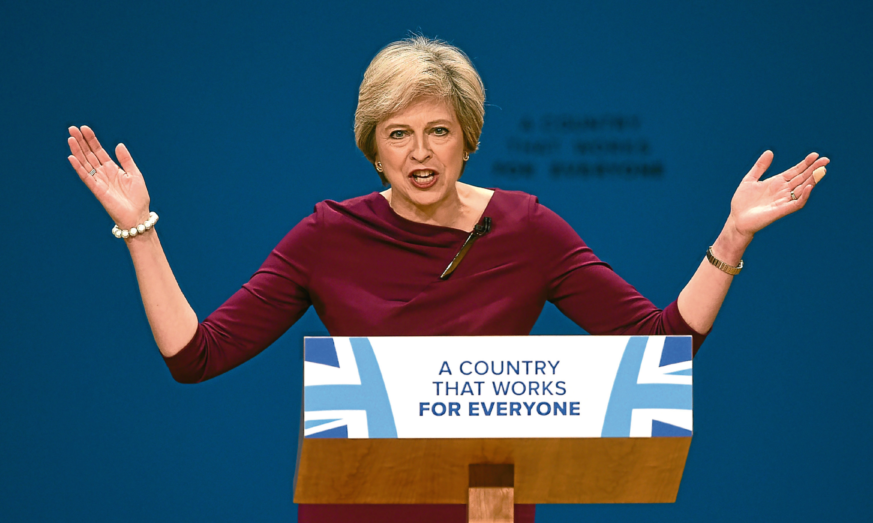 Prime Minister Theresa May speaking at the Conservative Party conference.