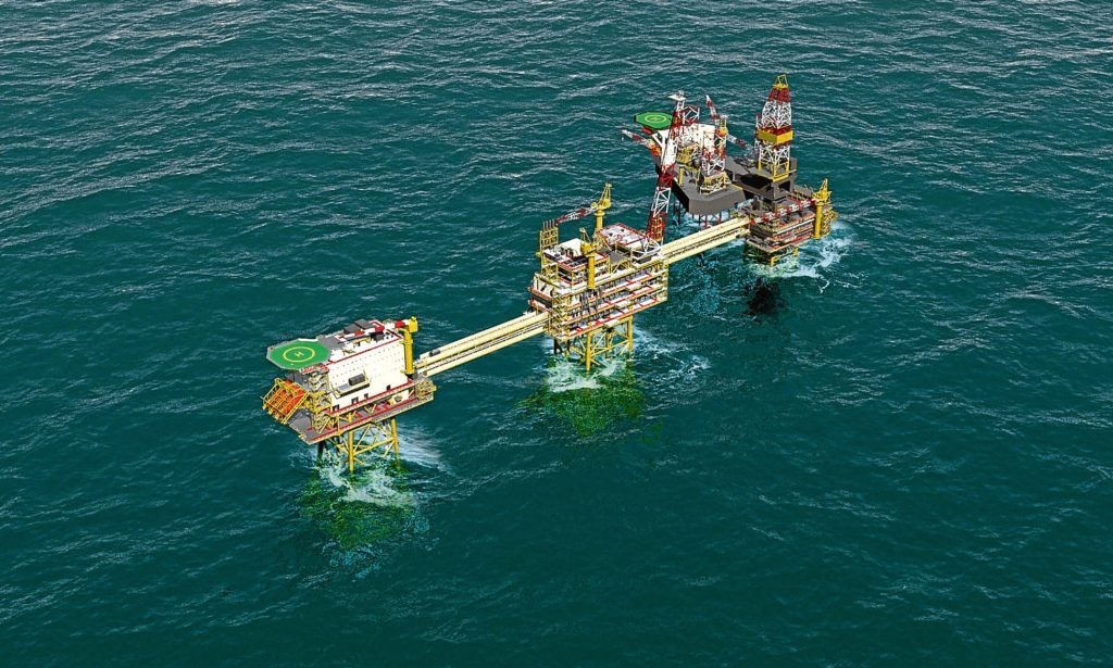 BP Culzean field in the North Sea
