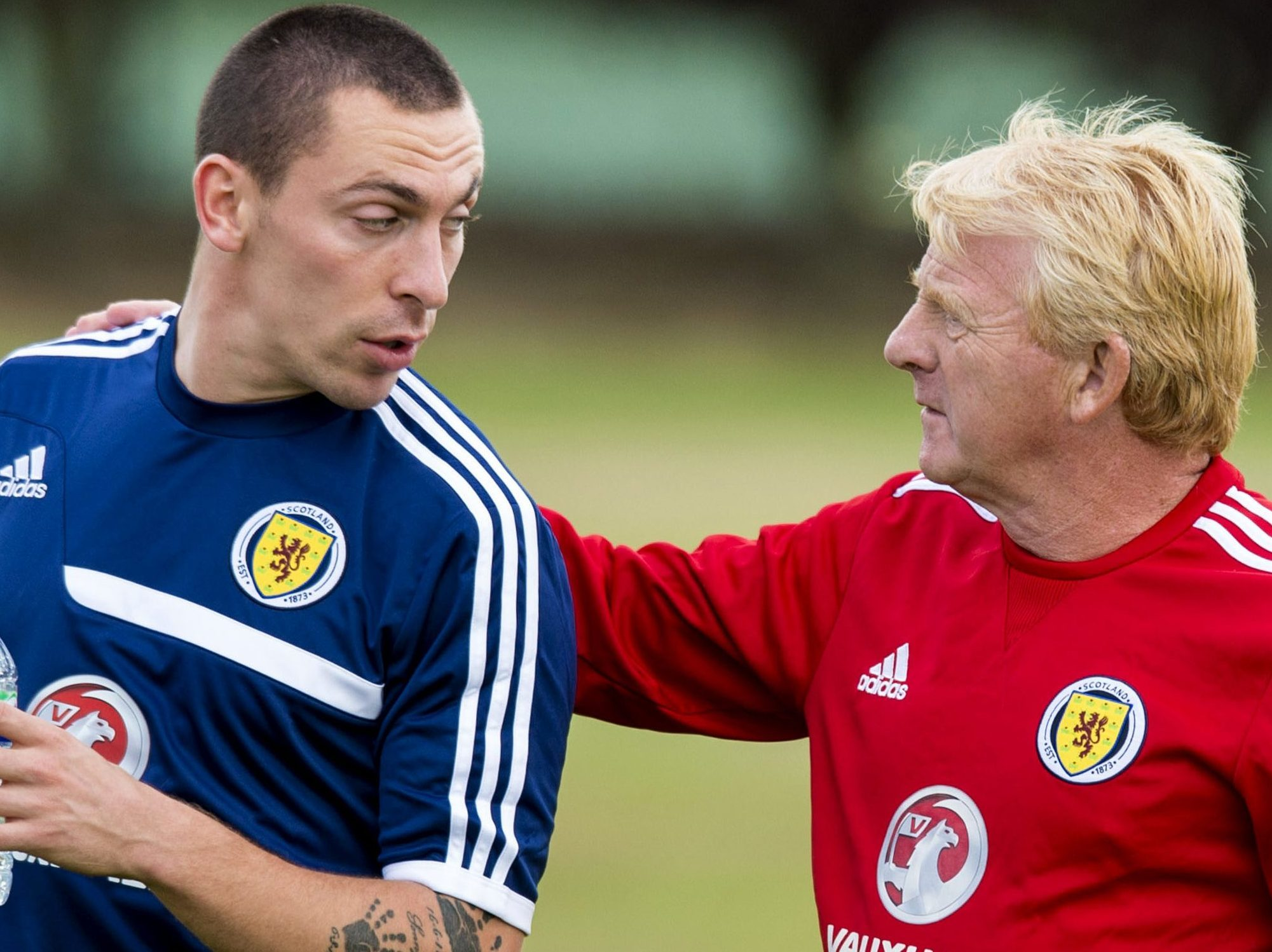 Scott Brown and Gordon Strachan.