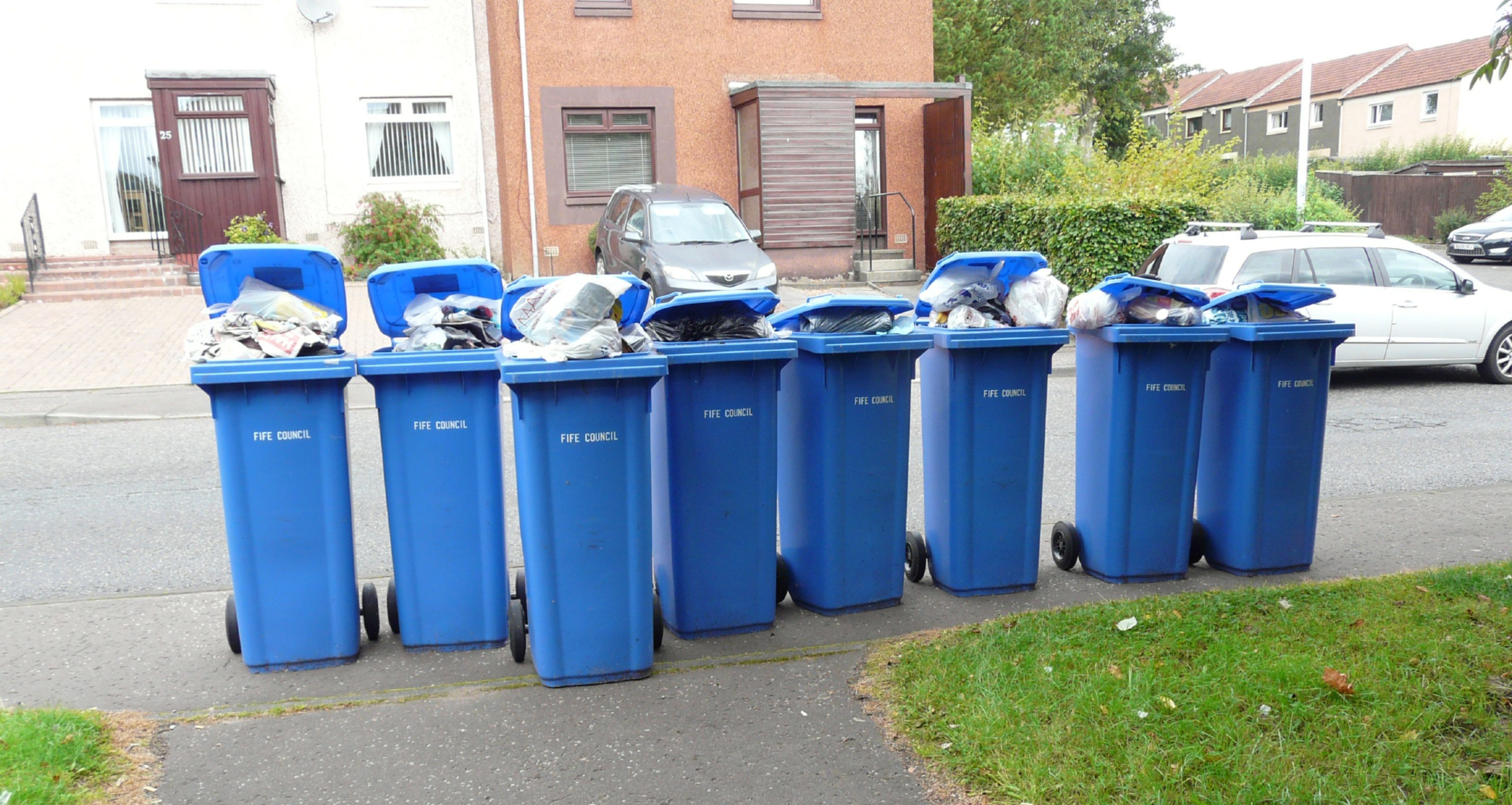 Claims were made that current landfill bins were too small for monthly collections