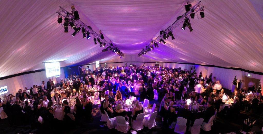 Around 700 people attended the 2016 Courier Business Awards at our special marquee at the Apex City Quay Hotel.