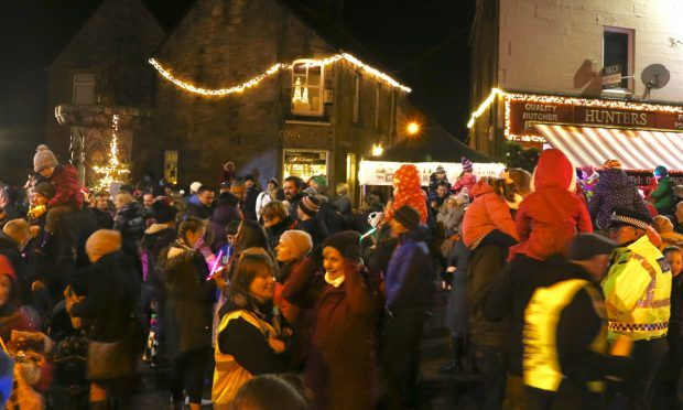 The 2015 light-up Kinross event in full swing.