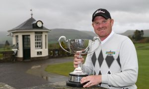 Gareth Wright recaptured the Scottish Porfessional Championship title at Gleneagles.