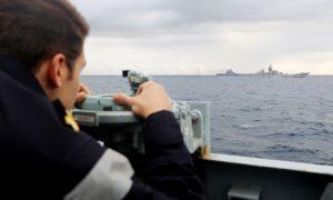 "Royal Navy ""man-marking"" Russian taskforce in North Sea"