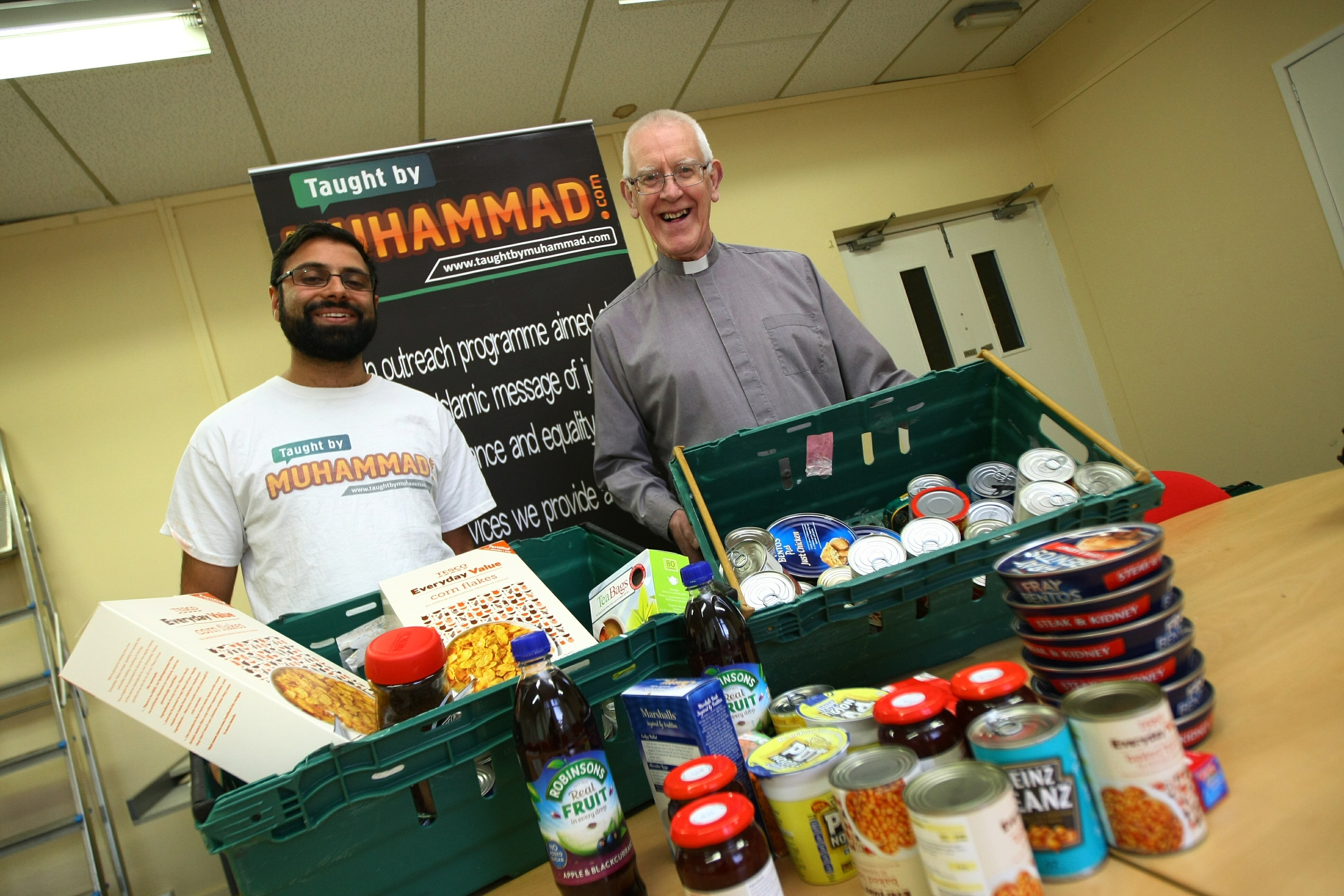 Rizwan has worked with other faith groups, incluing Reverend Mike Mair, to promote peace and tolerance.