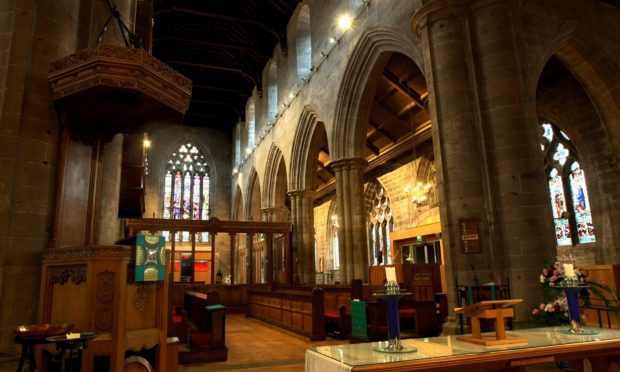 The interior of St John's Kirk in Perth.