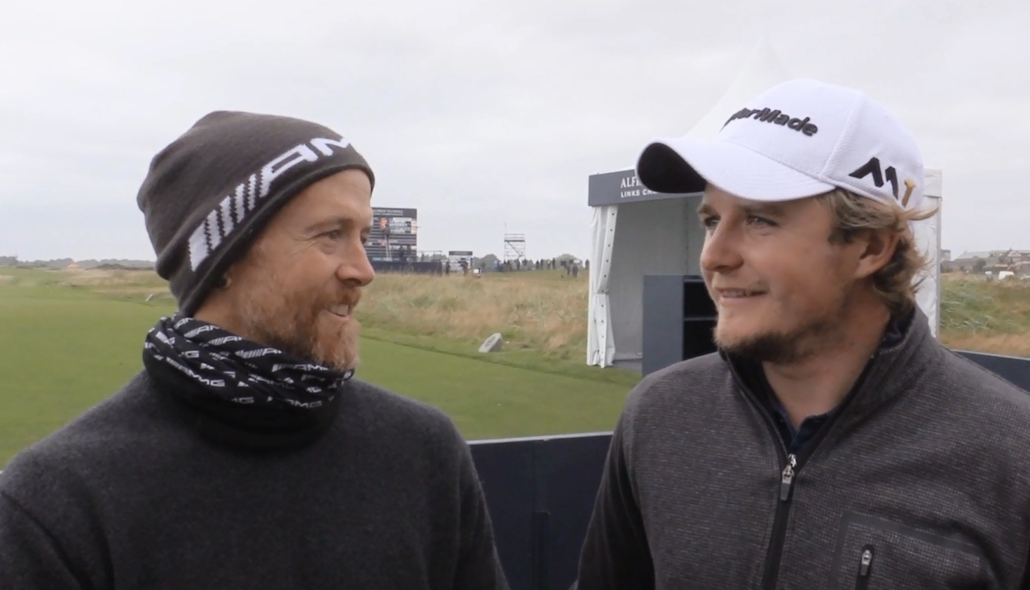 Dave Farrell and Eddie Pepperell at Carnoustie Links, 2016