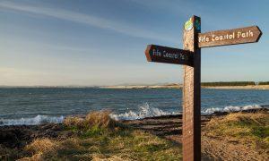 The Fife Coastal Path at Elie.