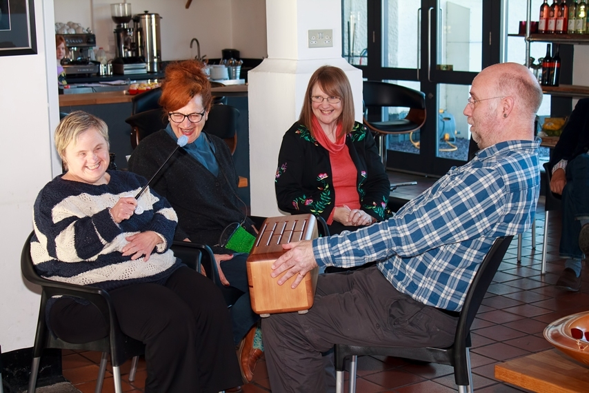 Service users at the Dunfermline centre.